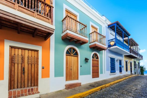 Colourful street in San Juan, Puerto Rico