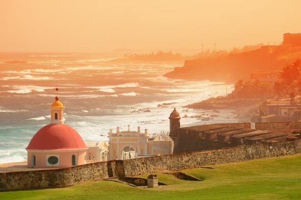Sea front in San Juan, Puerto Rico