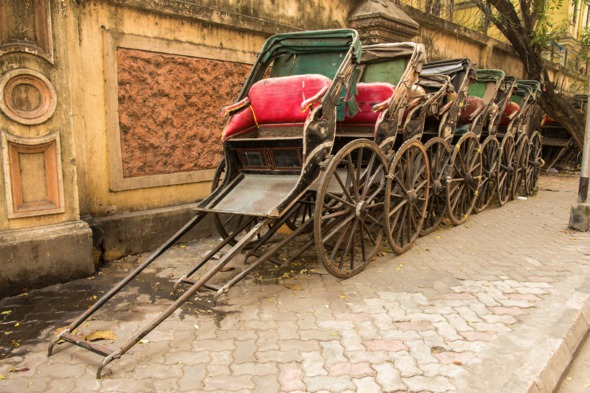 Rickshaws in Kolkata, India