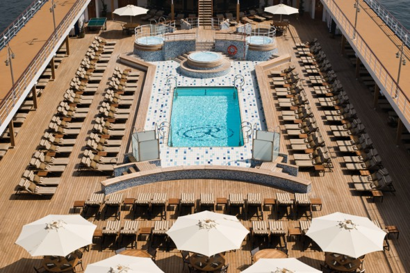 Pool deck on board Regent Seven Seas Mariner