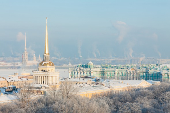 The Hermitage, St Petersburg in winter