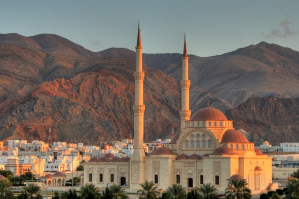 The Grand Mosque in Muscat, Oman