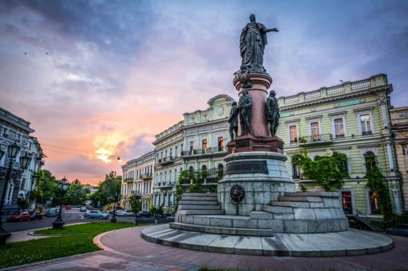 Monument to Catherine II in Odessa, Ukraine