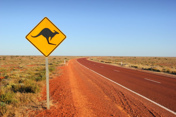 Australia cruises - Kangaroo sign