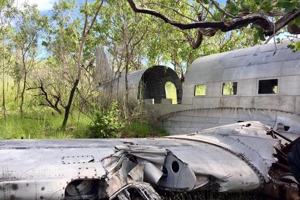 Crashed C-53 plane in the Buccaneer Archipelago, Australia