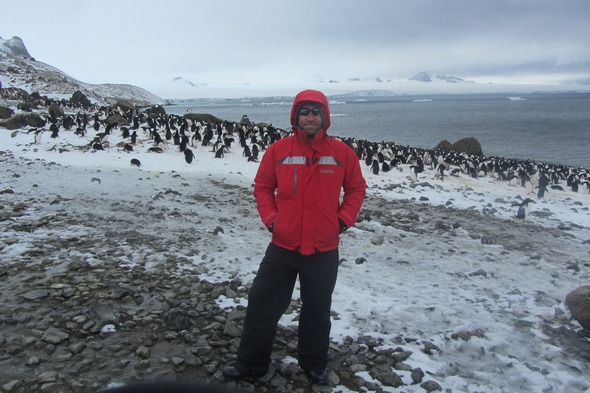 Alex in Antarctica