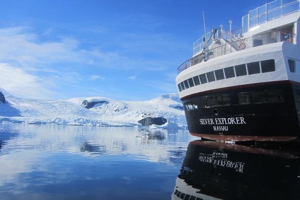 Silver Explorer off Danco Island, Antarctica
