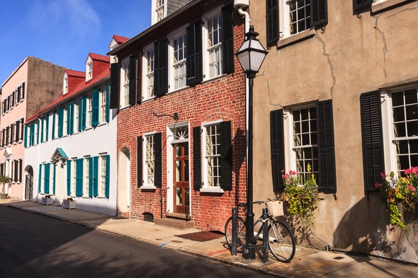 Old buildings in Charleston, USA