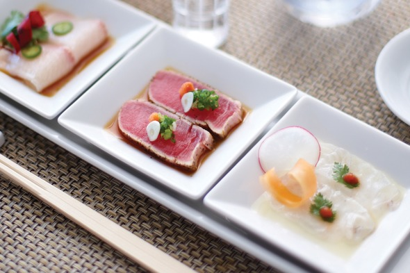 Crystal Cruises - Sushi trio by Nobu