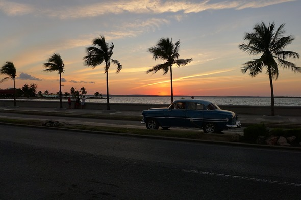 Sunset over the Malecón, Havana - One of the highlights of a Cuba cruise