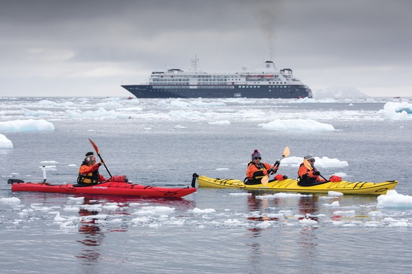 Silver Cloud Expedition - Zodiacs in Antarctica