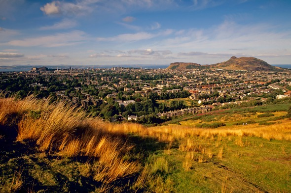 View of Edinburgh from the Braid Hills