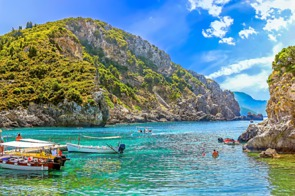 Coast of Corfu, Greece