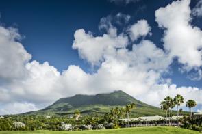 Volcanic peak in Nevis