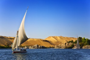 Feluccas on the Nile, Aswan