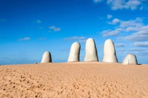Hand sculpture in Punta del Este, Uruguay
