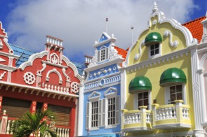 Dutch architecture in Oranjestad, Aruba