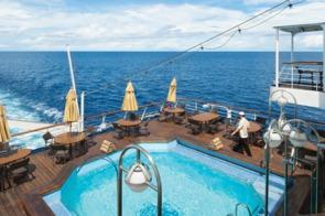 Silver Discoverer pool deck