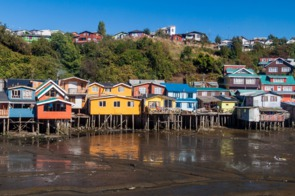 Stilt houses in Castro, Chiloé island, Chile