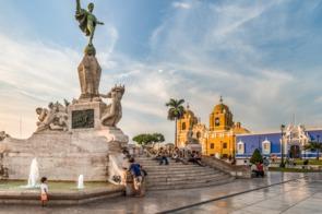 Main square in Trujillo, Peru