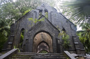 Abandoned church on Ross Island, India