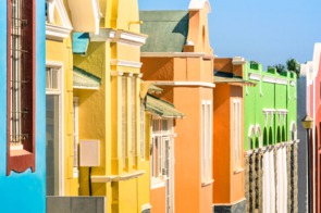 Colourful houses in Luderitz, Namibia