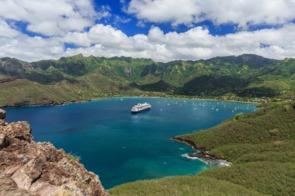 Taiohae bay in Nuku Hiva, French Polynesia
