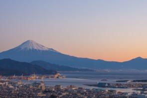 Mount Fuji and Shimizu, Japan