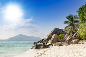 Beach on La Digue, Seychelles