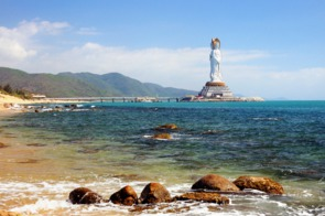 Quan Yin statue in Sanya city, Hainan, China