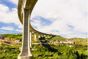 Bridge over the Douro at Peso da Régua, Portugal