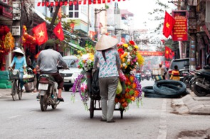 Hanoi street scene, Vietnam