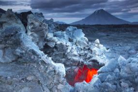 Volcanoes in Kamchatka, Russia