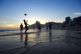 Cruises to Brazil & Argentina - Beach football in Rio de Janeiro