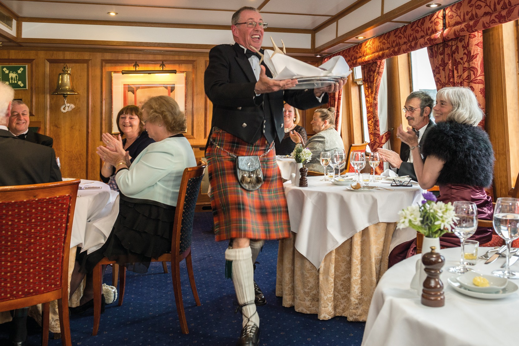 Gala night on Hebridean Princess