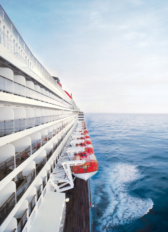 Queen Mary 2 on a transatlantic cruise