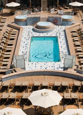 Pool deck on board Regent Seven Seas Mariner