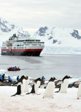 Hurtigruten's expedition cruise ship MS Fram in Antarctica