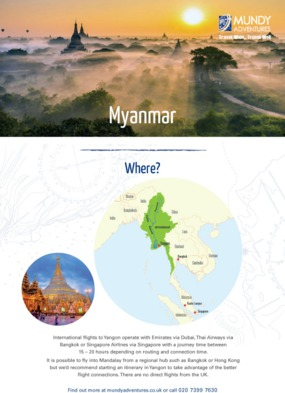 Mundy Adventures - Myanmar Guide