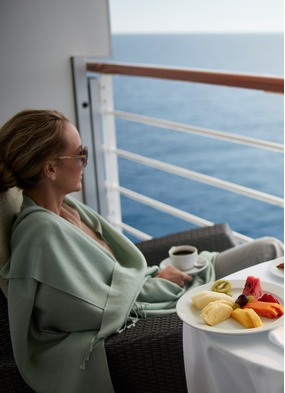 Enjoying a sea day on an Oceania cruise