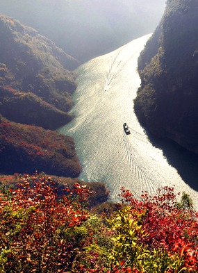 Aerial view of the Yangtze, part of the world's longest river cruise