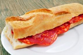 Spanish bocadillo de chorizo