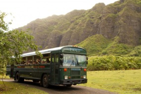 Bus tour of Kualoa