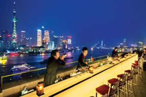 Rooftop bar at The Peninsula Shanghai