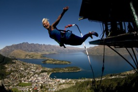 Queenstown bungee jumping, New Zealand