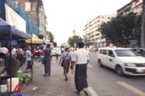 Street life in Yangon