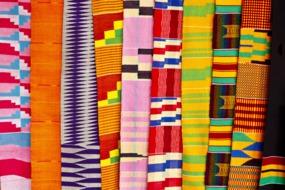 Fabrics at a market in Accra, Ghana