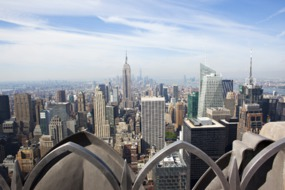 View of Manhattan skyline from Top of the Rock, New York