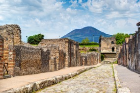 View of Vesuvius from Pompeii